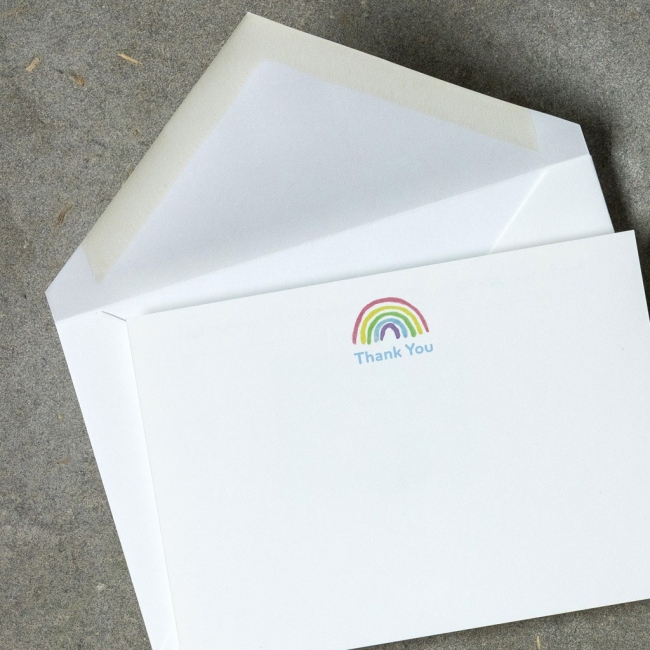 Children's Rainbow Correspondence Cards