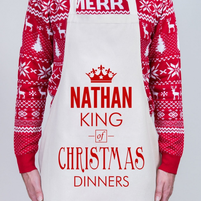 Christmas Personalised Apron - King of Christmas Dinners