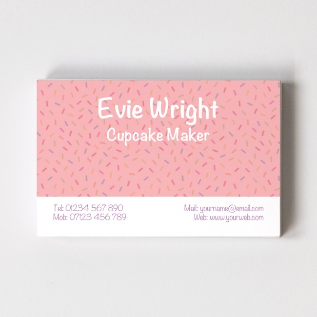 Cup Cake Maker Templated Business Card 1