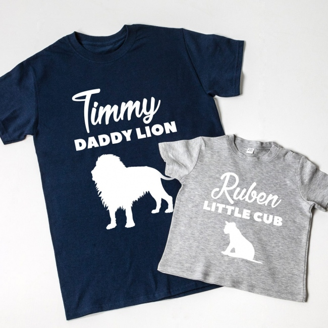 Daddy Lion & Little Cub T-shirt Set