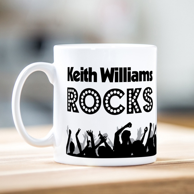 Personalised Father's Day Dad Rocks Mug
