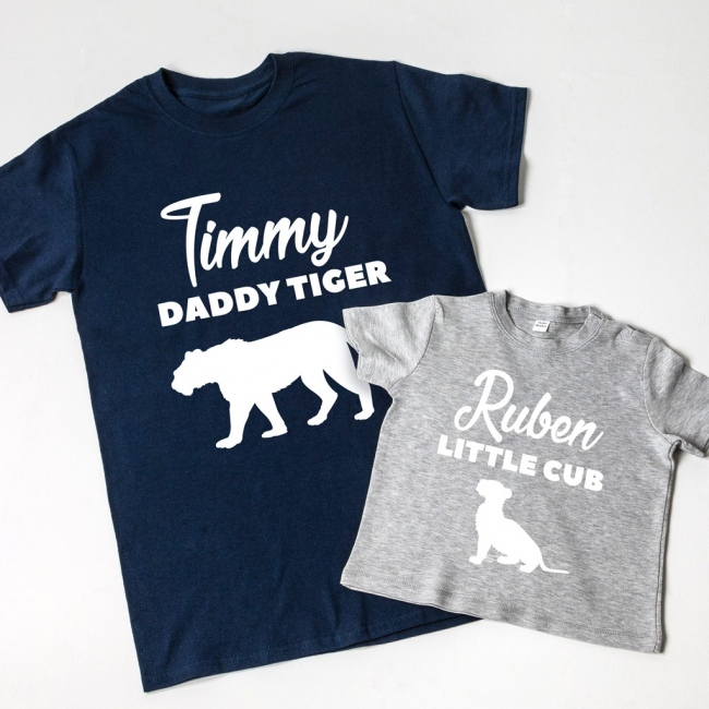 Daddy Tiger & Little Cub T-shirt Set