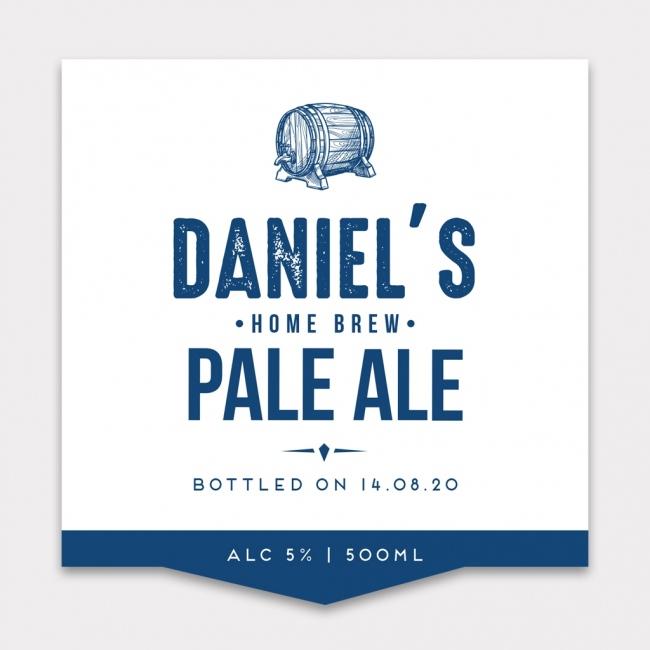 Personalised Beer Label - 4 Pack - Design 1