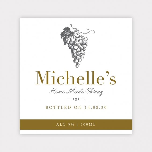 Personalised Wine Bottle Label - 4 Pack - Design 1