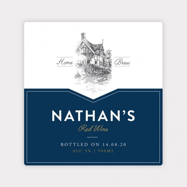 Personalised Wine Bottle Label - 4 Pack - Design 2
