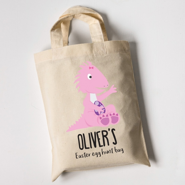 Easter Egg Hunt Mini Tote Bag - Dinosaur