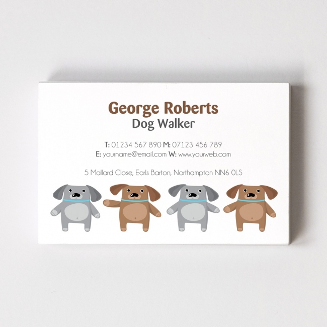 Dog Walker Templated Business Card 3