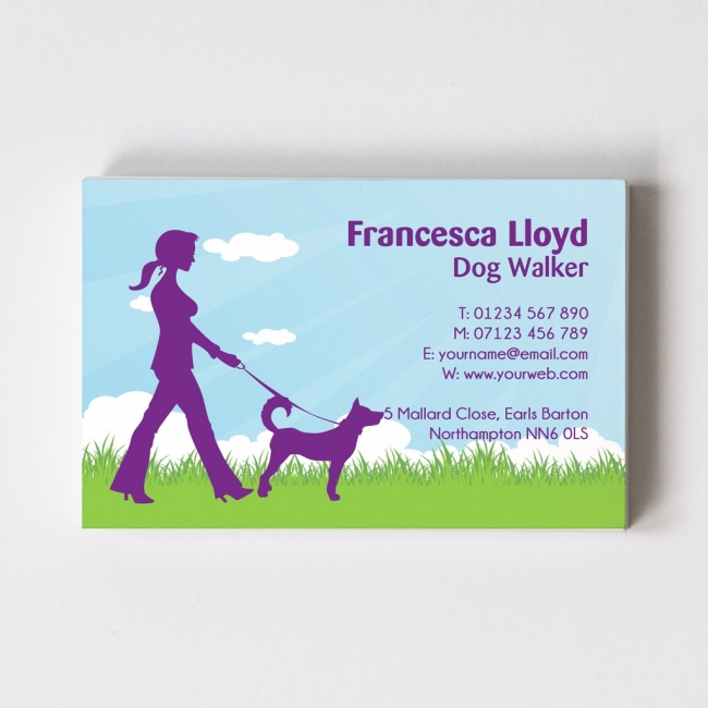 Dog Walker Templated Business Card 1
