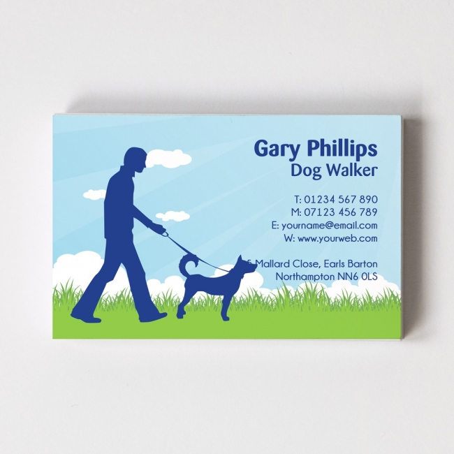 Dog Walker Templated Business Card 2