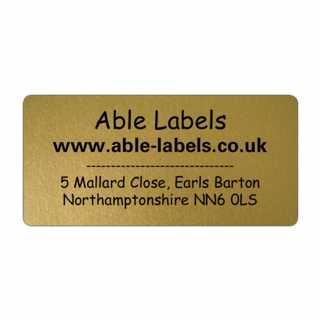 Design Your Own Cut Labels Gold