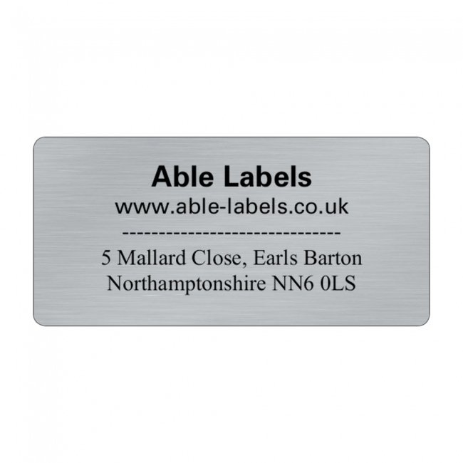 Silver Design Your Own Cut Labels