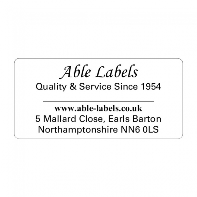 Design Your Own Cut Labels White
