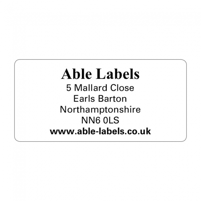 Design Your Own Cut Labels Clear