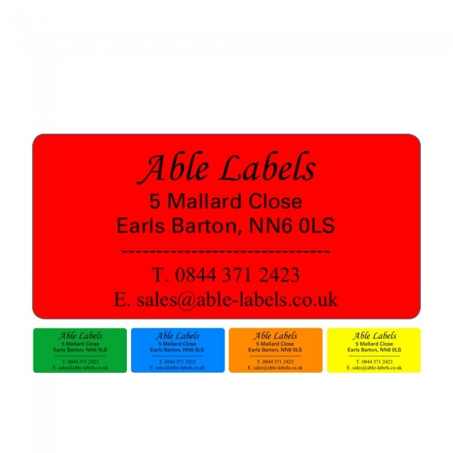 Design Your Own Label Colour A4 Sheet