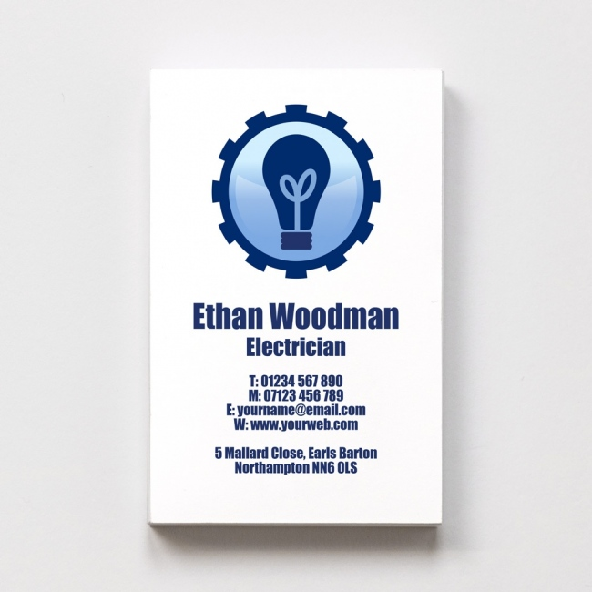 Templated Business Card Electrician 1