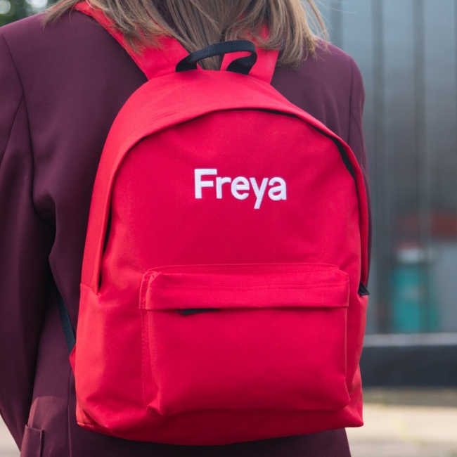 Personalised Embroidered Backpack