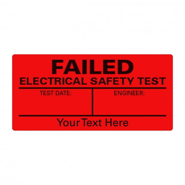 PAT Test Failed A4 Sheet Labels