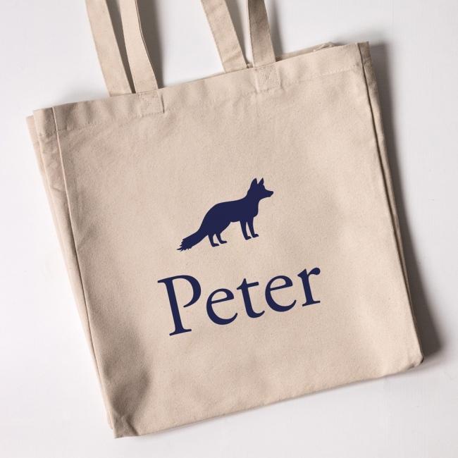 Personalised Tote Bag - Fox