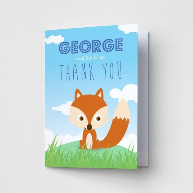 Children's Fox - Thank You Cards