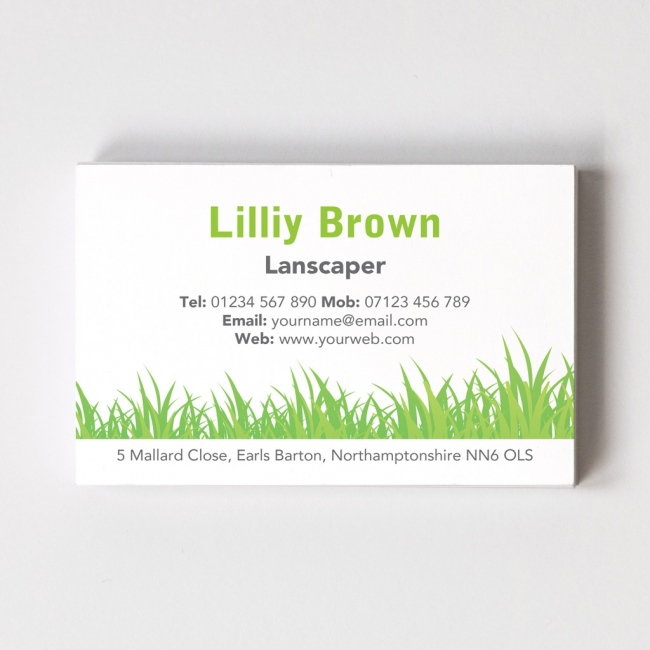 florist    gardener business cards