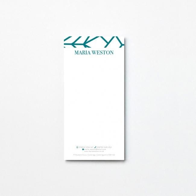 Geometric Tear Off Notepad