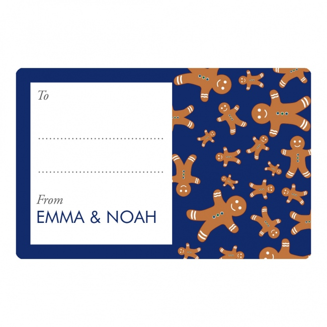 Christmas 2017 Gift Labels - Gingerbread Man