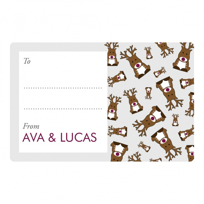 Christmas 2017 Gift Labels - Reindeer