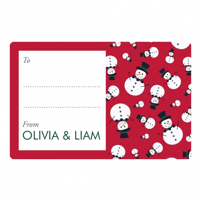 Christmas 2017 Gift Labels - Snowman