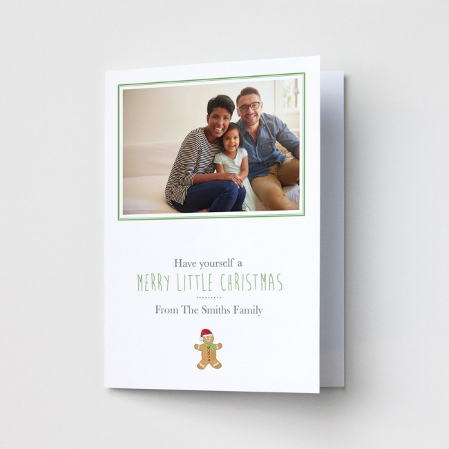 Premium Christmas Cards - Gingerbread Man Photo Upload