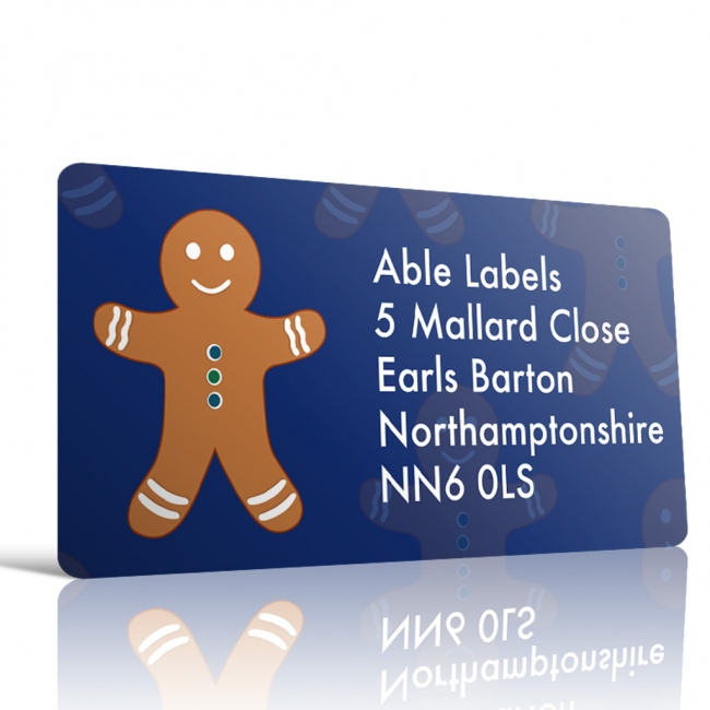 Christmas A4 Sheet Labels - Gingerbread Man-19x40mm