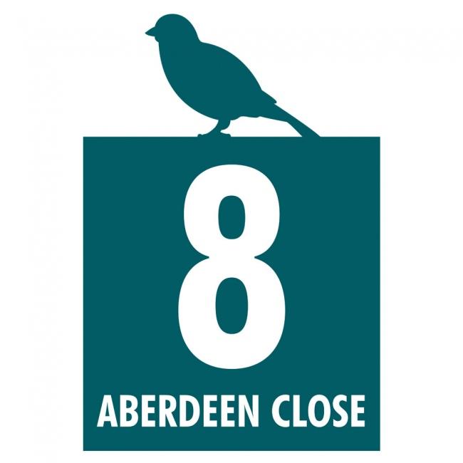 Bird Silhouette Food Waste Bin Label