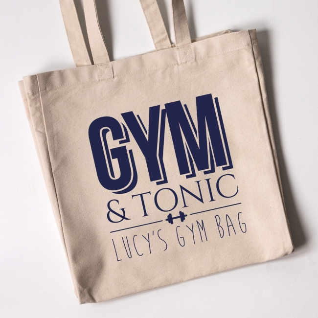 Personalised Tote Bag - Gym & Tonic