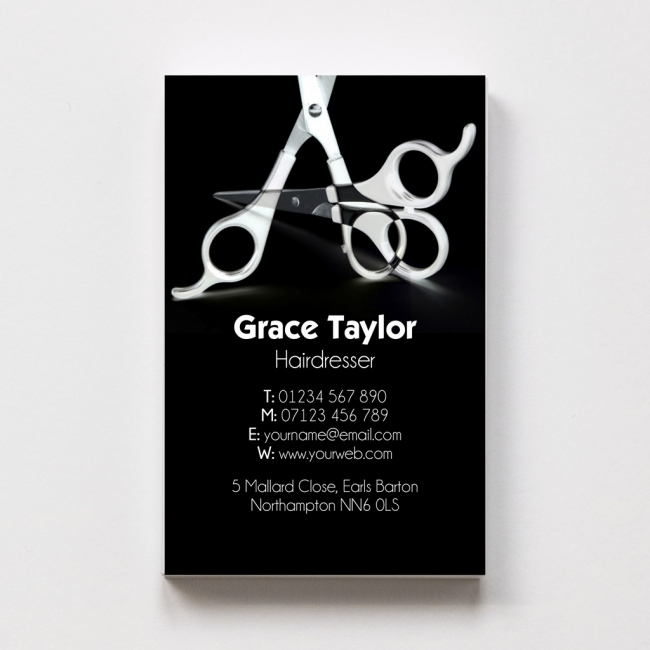 Hairdressers business cards able labels templated business card hairdresser 1 reheart Gallery