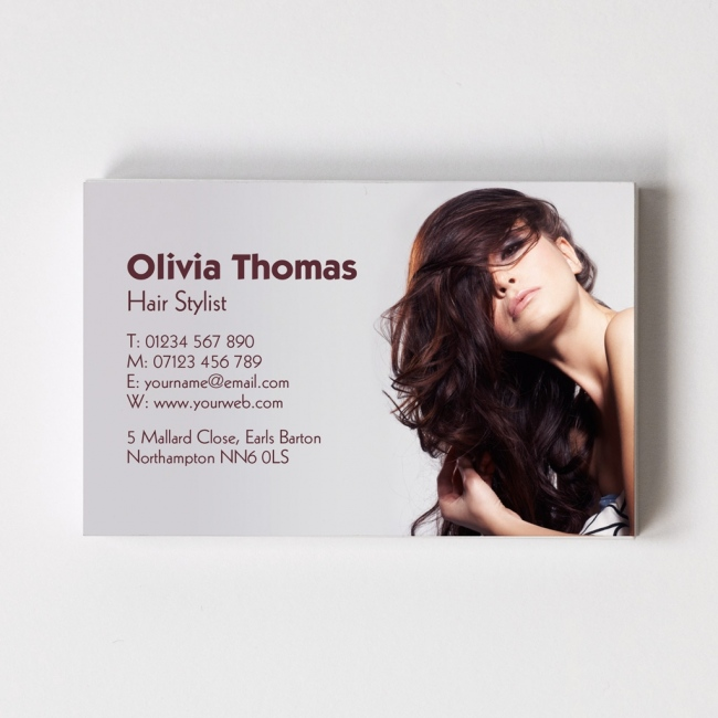 Hairdresser Templated Business Card 2