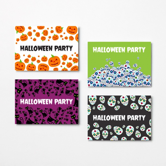 Halloween A6 Invitation Card Pack with Envelopes