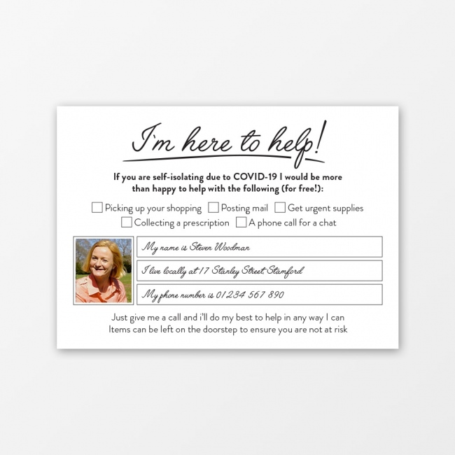 Here to Help A6 Photo Postcards