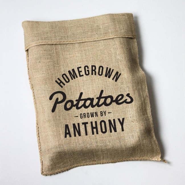 Personalised Homegrown Design Hessian Sack