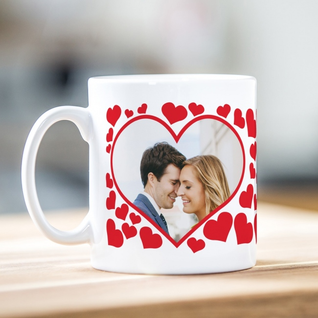 Hearts Photo Mug