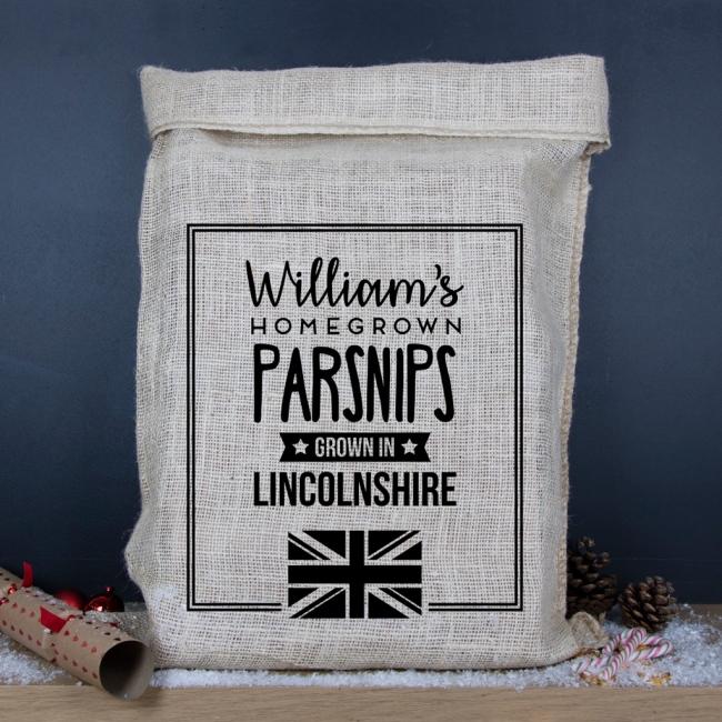 Personalised Hessian Sack - Grown in Britain