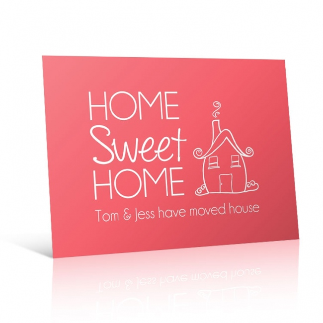 Home Sweet Home - Change of Address Postcard