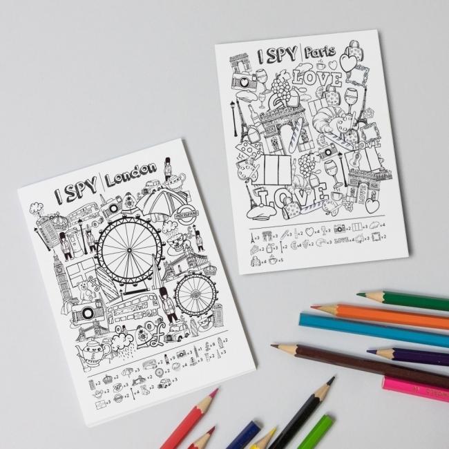 I SPY Colour in Postcards