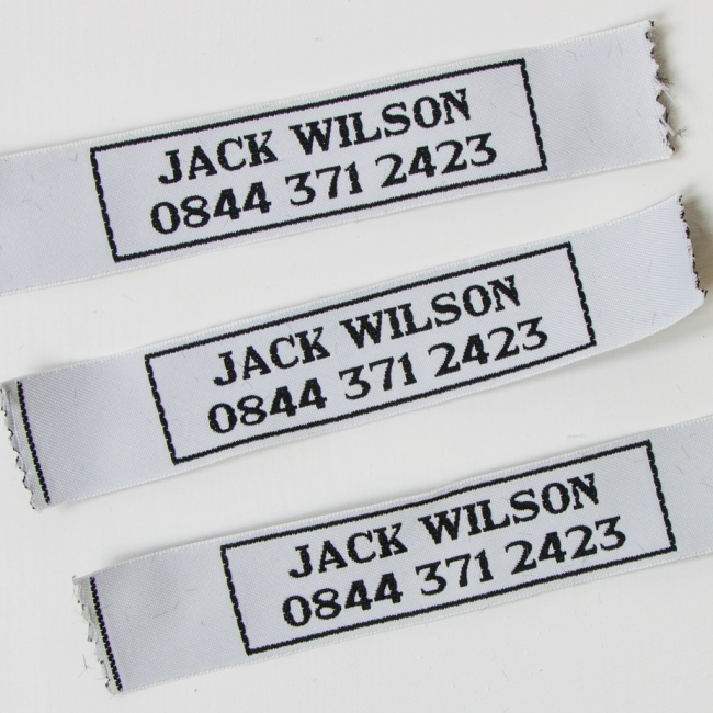 Sew In Name Labels – 25mm Border