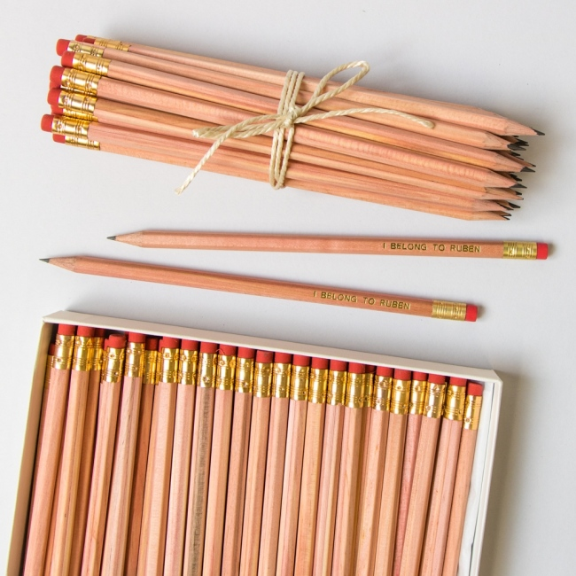 Large Natural Wood Pencil Pack