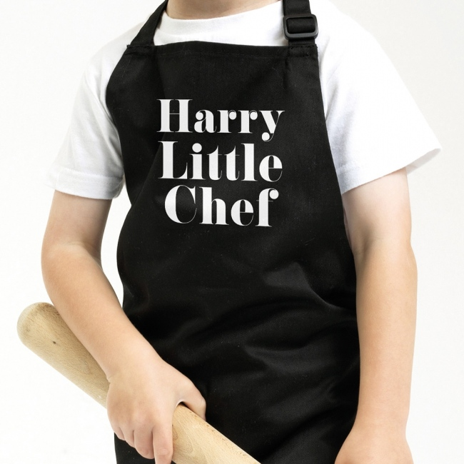 Personalised Kids Apron - Serif