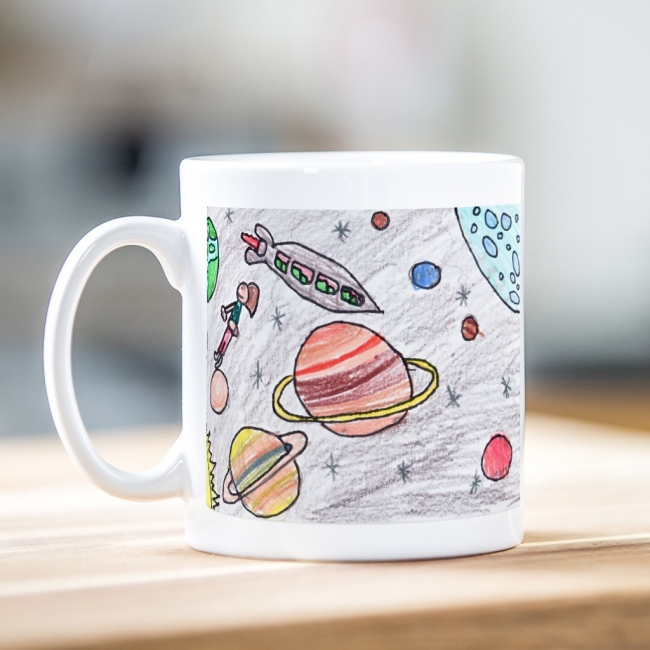 Child's Artwork Mug One Side