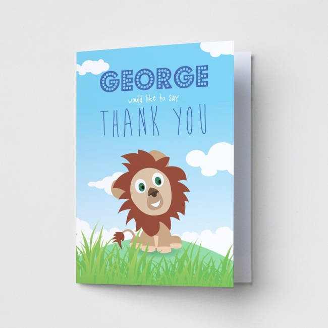Children's Lion - Thank You Cards