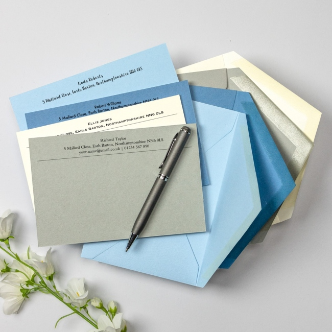 Luxury Correspondence Cards - Digital Printed