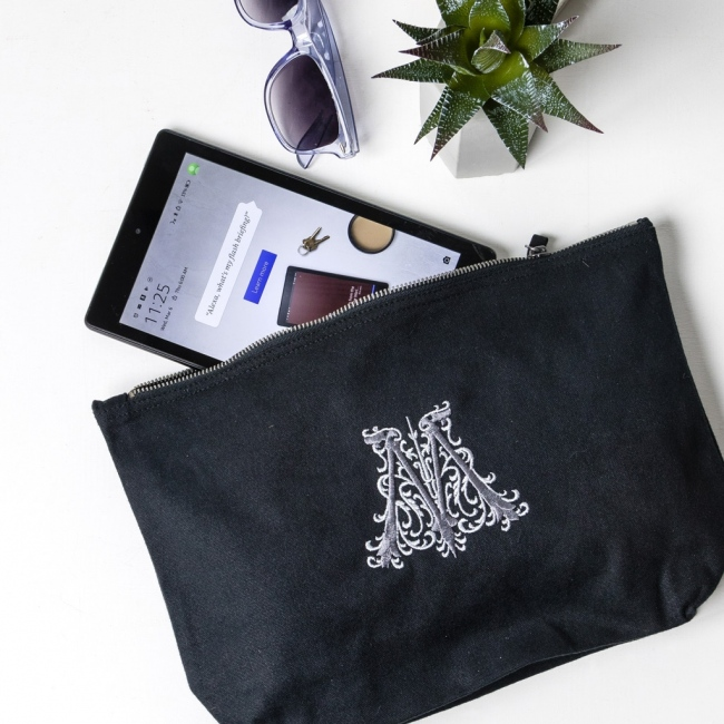Personalised Embroidered Monogram Accessory Pouch