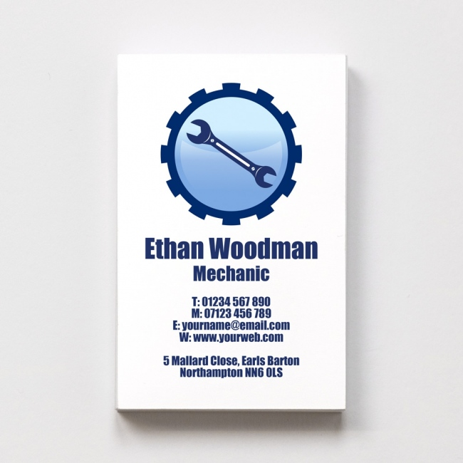 Templated Business Card Mechanic 1