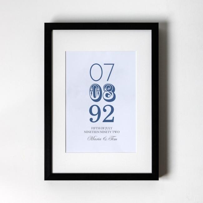 Memorable Date - Personalised Art Print